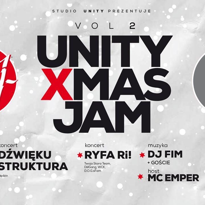 Photo of Unity Xmas Jam vol. 2   Koncert Ryfa Ri! + Dźwięku Struktura