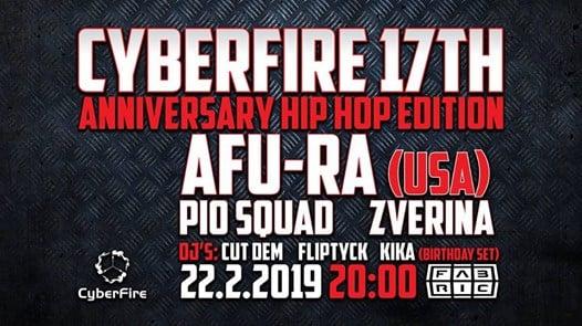 Photo of Cyberfire 17 let w/ Afu-Ra (USA) @Fabric 22/2/2019