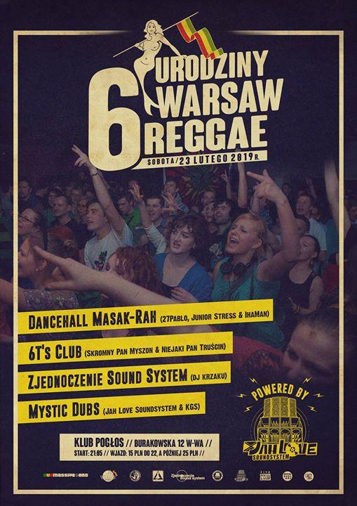 Photo of 6. urodziny Warsaw Reggae  Line up:  ~ S…